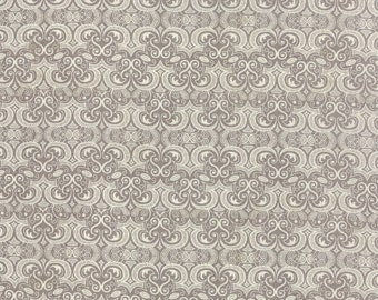 Black Tie Affair, Fabric by the Yard, Basic Grey, Moda Fabrics, Floral Vignette Cream Grey, Light Grey Fabric, Modern Fabric, 30425 15