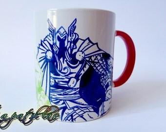 Custom mug handpainted handmade