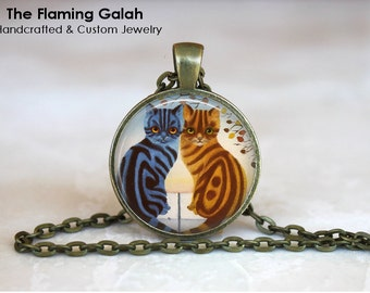 CAT PENDANT Pendant • Two Cats • Two Kittens • Sitting Cats • Cat Lover • Cat Gift • Gift Under 20 • Made in Australia (P0298)