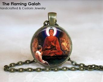 BUDDHA Pendant •  Praying Buddha •  Meditationg Buddha •  Buddhist •  Buddhism •  Made in Australia (P0625)