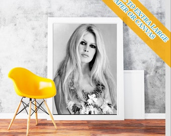 Brigitte Bardot Face - Classic Print Poster Rolled Wall Art Print POster Rolled - French former actress, singer and fashion  Photo