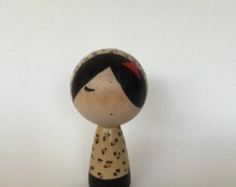 Kokeshi dolls, dolls painted, animal print