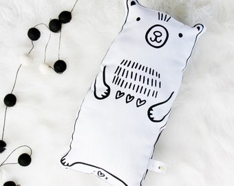 Bear Hand Printed Soft Toy Plushie / Cushion / Pillow