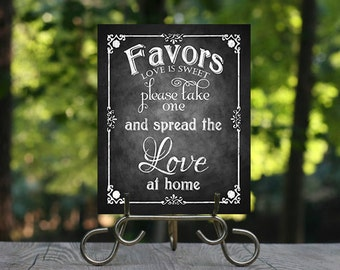 Please take one and Spread the Love at Home Favors, Printable Chalkboard Wedding Sign, Wedding Jam Sign, Favor Sign, Wedding Favors, DIY