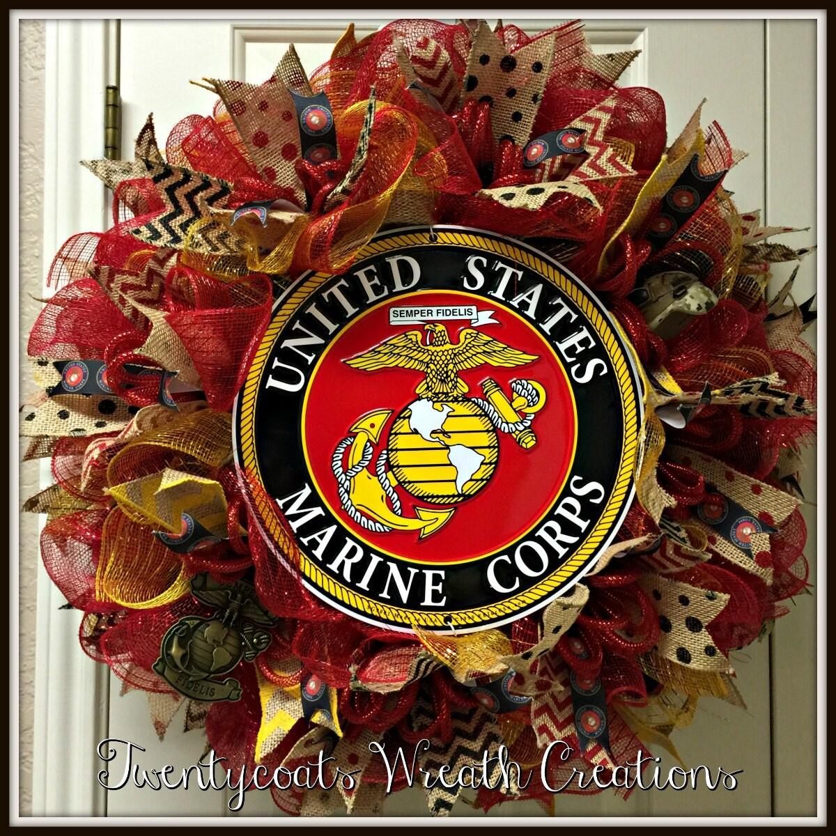 Us marine corps wreath - Deco table marine ...