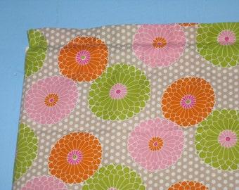 Pink Lime green Tan Orange Floral Suzzani Window Curtain Valance