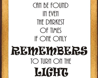 Quote Happiness Poster Print - Albus Dumbledore - 8.5 by 11