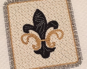 Fleur de lis Applique Embroidery Digital Download