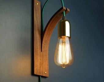 English Oak Bracket Wall Light by LayerTree on Etsy