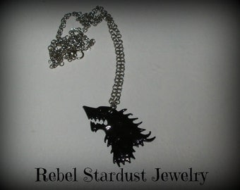 Game of Thrones Stark Direwolf necklace