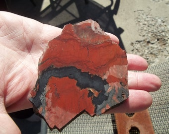 Unknown Red jasper slab from a vintage collection  #174