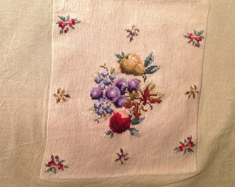 Needlepoint chair canvas