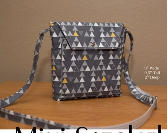 Sierra Mini Satchel Crossbody Bag Purse PDF Sewing Pattern