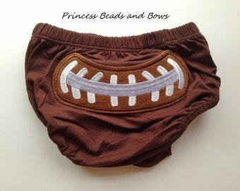 Football Diaper Cover,  Football Baby Diaper Cover,  Football Bloomers, Girls or Boy Football Diaper Cover