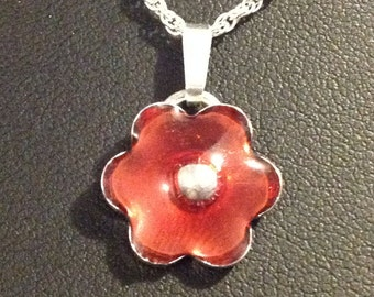 Handmade Enamel Flower Necklace