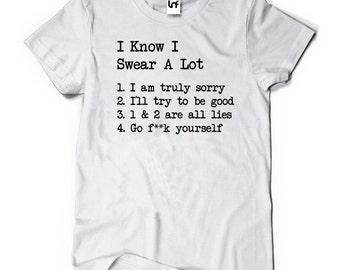 Swear A Lot Funny Men's T-Shirt (SB593)   Gift For Men