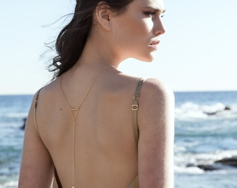 NEW!!! Crescent - Back Necklace