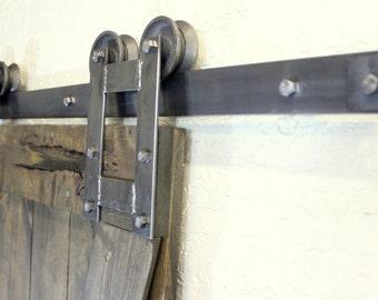 rustic H sliding barn door hardware