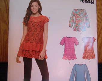 NEWLOOK Top, Blouse Pattern, Size 8-20, S0601 easy, Uncut, Factory Folded, 2014