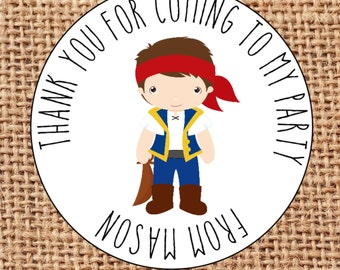 24 party bag thank you for coming personalised stickers favours sweet cone Pirates
