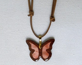 inlaid wooden necklace