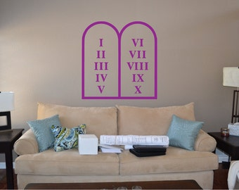Ten Commandments Wall Decal - rel4 (30)