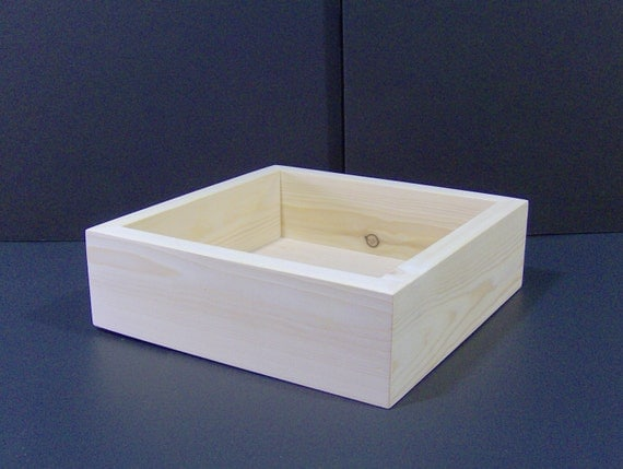 7 x 7 x 3 unfinished wood wooden craft box for Unfinished wooden boxes for crafts