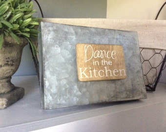 Kitchen Magnet, Wood Magnet, Quote Magnet, Dance in the Kitchen