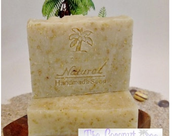 Basic Oatmeal Soap / Natural Soap / Antibacterial Soap / 5oz bar soap / Vegan Soap / face soap / body soap / bar soap