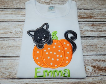 Girl's HALLOWEEN Shirt; Halloween shirt; Girl's Halloween bodysuit; Baby Girl Halloween; Personalized Halloween shirt