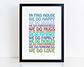 In this house...- Typography Frame