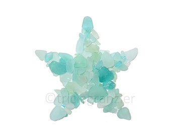 Coastal Art Print, Sea Glass or Beach Glass Starfish