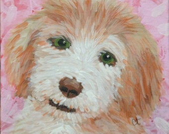 Customized Pet Portrait Canvas Wall Art - Queenie Eileenie