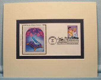 "Walt Disney's ""Cinderella"" and First Day Cover of the Cinderella Stamp"