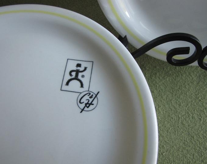 Shenanogo Pottery Restaurant Plates Flexonics Elgin IL Set of Eight (8) Available Cafeteria Ware Priced Individually