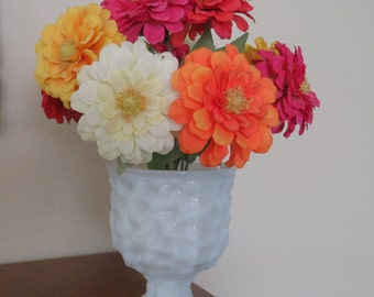 Vintage Milk Glass vase/planter. E.U.Brody-free shipping USA