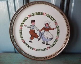 1913 Antique German Porcelain Serving Tray!