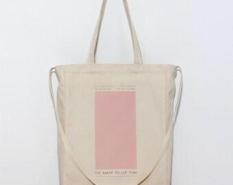 Canvas tote bag / School bag/ Eco bag / Daily bag / Graphic Design / 1day1bag/ Magic Pink