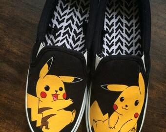 Custom Adult Pikachu Shoes