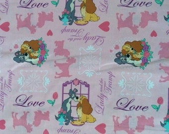 Disney's Lady N the Tramp Cotton Fabric by the 1/4 Yard