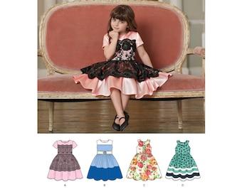Child's Dresses Simplicity Pattern 8182