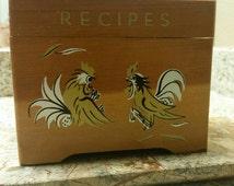 Unique Retro Recipe Box Related Items Etsy