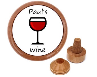 Personalized wine bottle stopper & wine cork holder kitchen gadget accessory dinnerware tableware barware