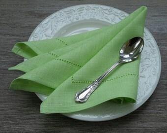 LINEN Napkins - LIME GREEN napkins - linen Napkin Set, Table napkin, table linen, wedding napkins, dinner napkins, cloth napkins