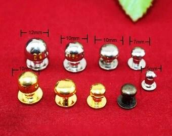10 Nipple Nail Knobs, Metal Drawer Bureau Jewelry Box Button Knob, Single Hole Cabinet Pulls - Nine Style (5~12mm) - k64