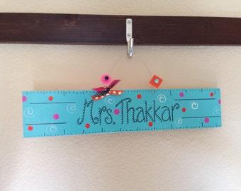 Teacher Ruler Sign