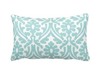 Blue Throw Pillow Cover Blue Pillow Cover Blue Damask Pillows Shabby Chic Pillows Decorative Pillows for Couch Pillows 12x20 Pillow Covers