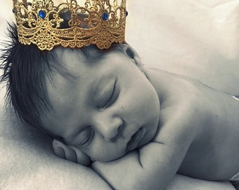 GOLD Mini Crown,Prime Baby CrownCake topper,Baby boy Crown,Photography Prop,Cake Topper!!!