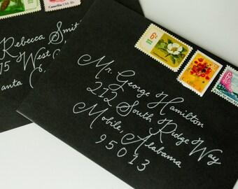 Wedding Envelope Calligraphy | Envelope Addressing | Handwritten Envelope Addressing | Handwritten Calligraphy - Rhonda Style