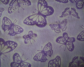 Lavender Butterflies Flannel Fabric ( 1-1/2 yards)